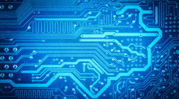 abstract background with blue computer circuit board